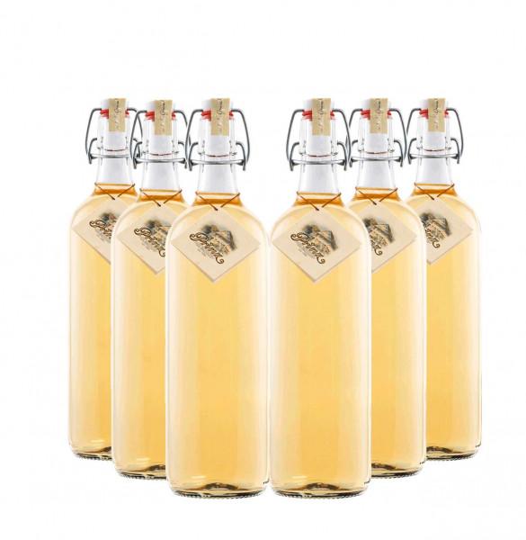 6 Flaschen Prinz Alter Marillen Schnaps 1,0l - im Holzfass gereift aus Österreich