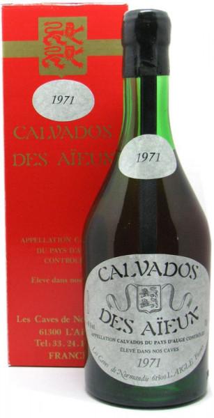 Calvados Des Aieux Jahrgang 1971 0,7l mit 41% vol. incl. Geschenkkarton