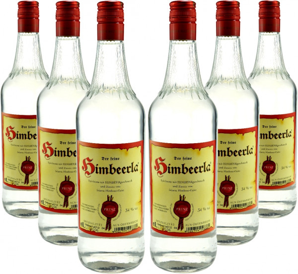 6 Flaschen Prinz Himbeerla 1,0l aus Österreich