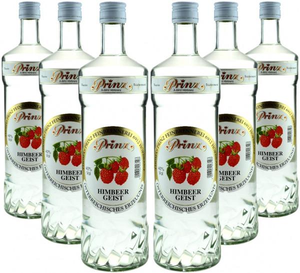 6 Flaschen Prinz Himbeergeist 1,0l aus Österreich - 4,8% Rabatt