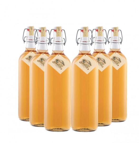 6 bottles of Prinz Alte Waldhimbeere 1,0l - old wild raspberry fruit brandy