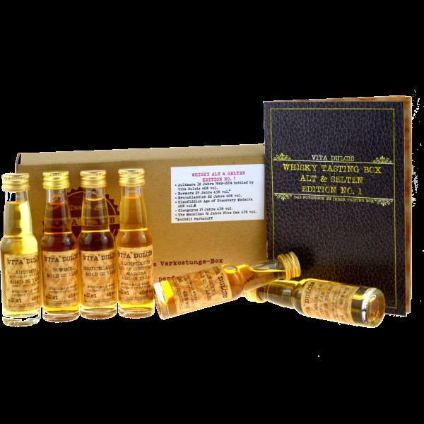 Vita Dulcis Tasting Box Whisky Nr. 8: alt & selten 6x0,02l + 20-seitige Broschüre - Edition No.1