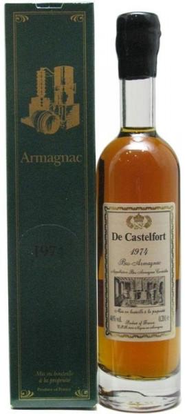 Armagnac De Castelfort Jahrgang 1974 - 0,2l incl. Geschenkkarton