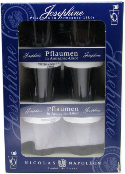 Josephine Pflaumen in Armagnac-Likör 9x0,04l Miniaturen incl. Geschenkpackung