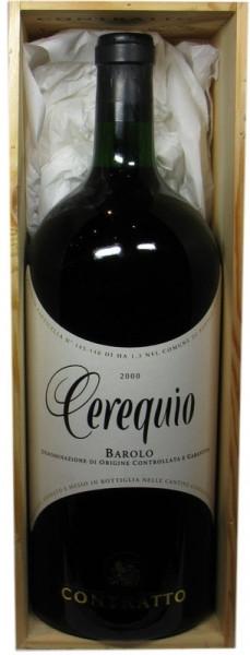 Barolo Cerequio Jahrgang 2000 - 5,0l Grossflasche incl. Holzkiste - italienischer Rotwein