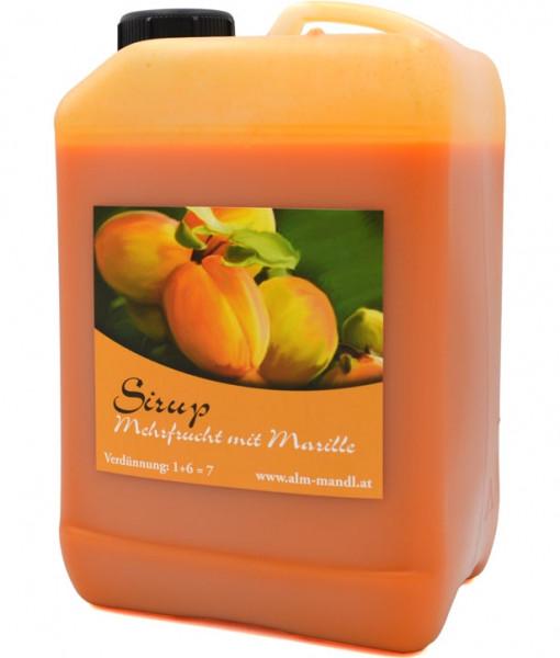 Alm Mand'l Mehrfrucht mit Marillen Sirup 3,0l Kanister