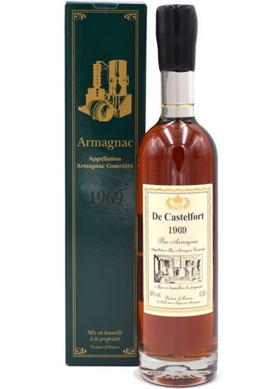 Rarität: Armagnac De Castelfort Jahrgang 1969 - 0,2l incl. Geschenkkarton