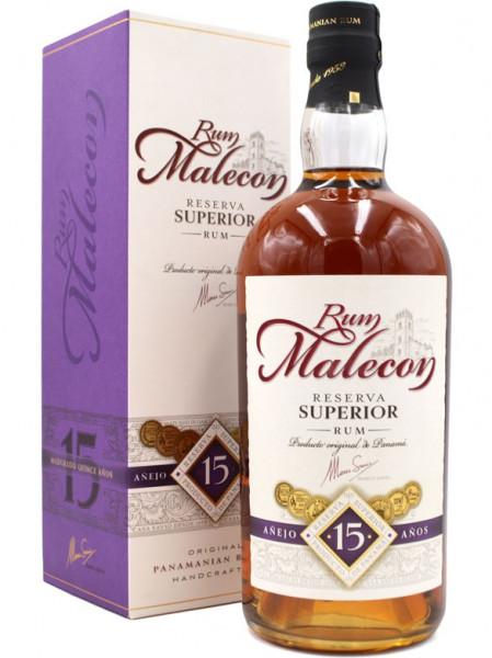 Malecon 15 Jahre 0,7l mit Geschenkpackung - brauner Rum aus Panama