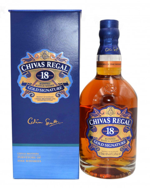 Chivas Regal 18 Jahre - 0,7l schottischer Blended Whisky 40%vol.