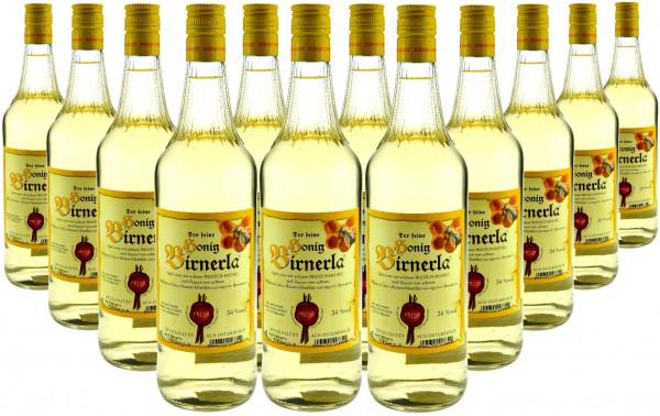 18 Flaschen Prinz Honig Birnerla ( Birnenschnaps mit Honig ) 1,0l aus Österreich