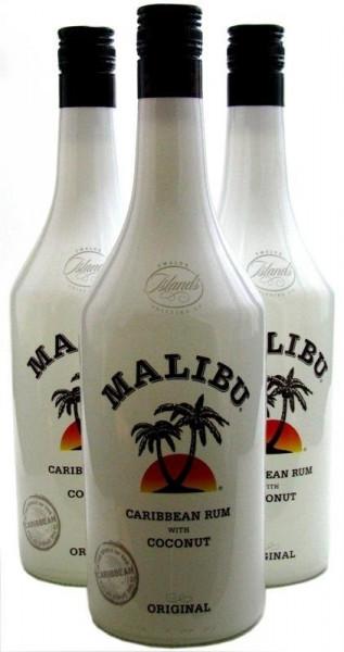 Malibu White Rum & Coconut Likör 3x1,0l