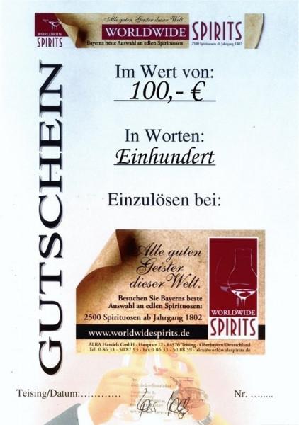 Gutschein über Euro 100,00