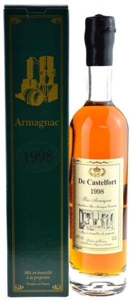 De Castelfort Armagnac Jahrgang 1998 - abgefüllt 2009 - 11 Jahre im Fass gelagert