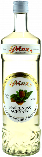 Prinz Haselnuss Schnaps 1,0l - Spirituose aus Österreich