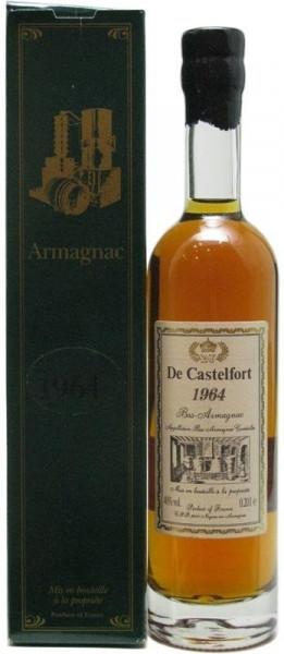 Armagnac De Castelfort Jahrgang 1964 - 0,2l abgefüllt 2015 - 51 Jahre im Fass inkl. Geschenkkarton