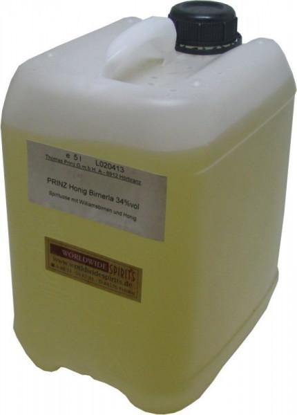 Prinz Honig Birnerla ( Birnenschnaps mit Honig ) 5 Liter Kanister aus Österreich