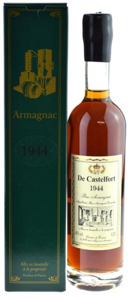 De Castelfort Armagnac Jahrgang 1944 - abgefüllt 2016 - 72 Jahre im Fass gelagert