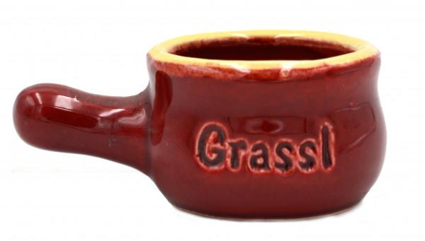 Grassl weinrotes Keramikpfannerl mit Griff
