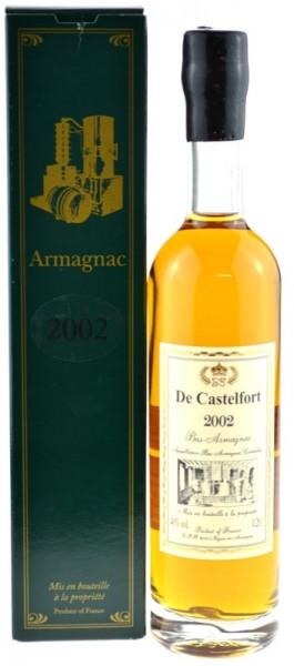 De Castelfort Armagnac Jahrgang 2002 - abgefüllt 2014 - 12 Jahre im Fass gelagert