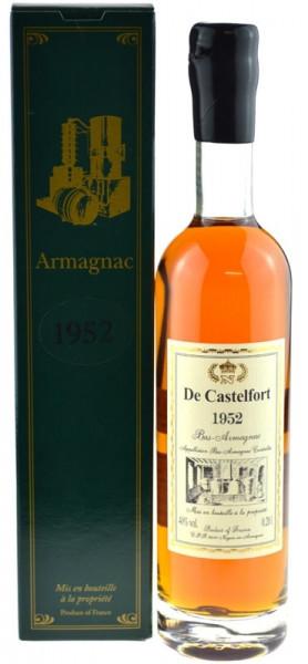 De Castelfort Armagnac Jahrgang 1952 - abgefüllt 2015 - 63 Jahre im Fass gelagert