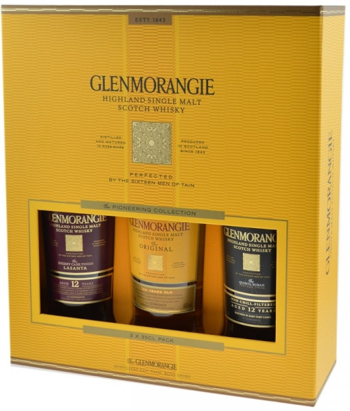 Glenmorangie Pioneering Collection Whisky 3x0.35l (Original, Quinta Ruban, Lasanta) in GB