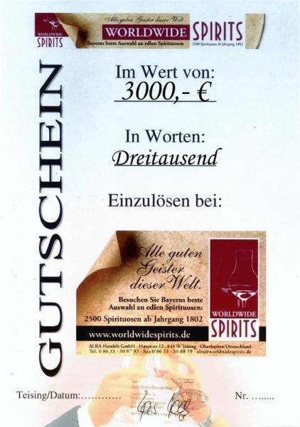 Gutschein über Euro 3000,00